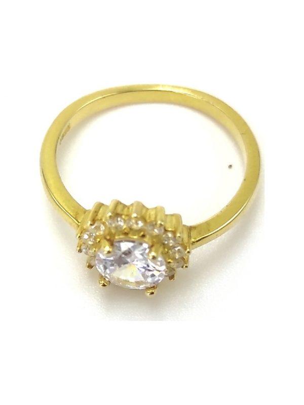 Γυναικείο Δαχτυλίδι χρυσό με πέτρα