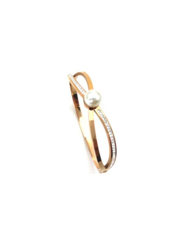 Γυναικείο Βραχιόλι χρυσό με πέτρες