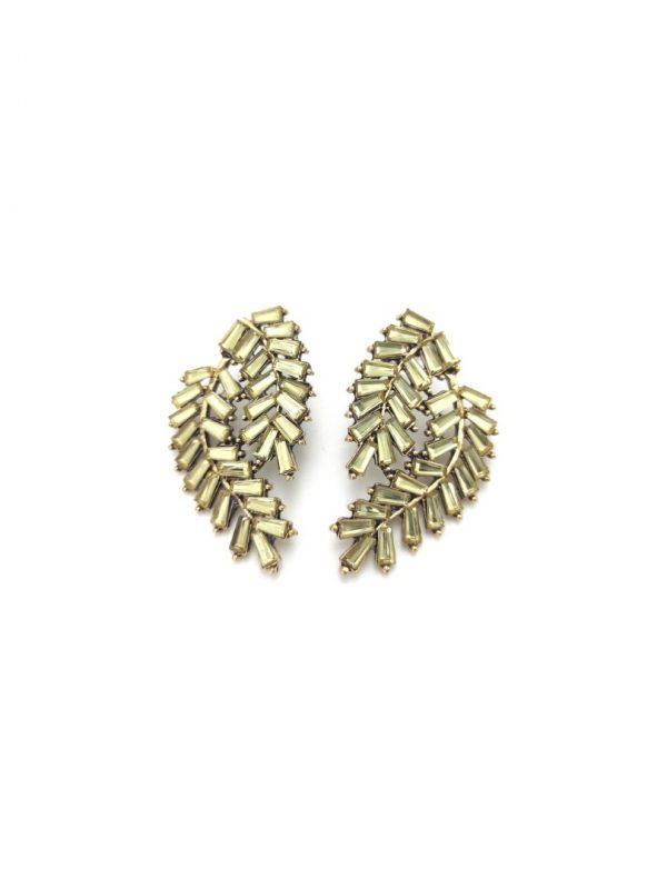 Γυναικεία Σκουλαρίκια χρυσά με χρυσές πέτρες