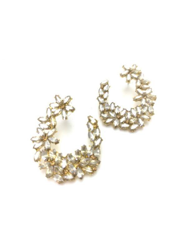 Γυναικεία Σκουλαρίκια χρυσά με πέτρες