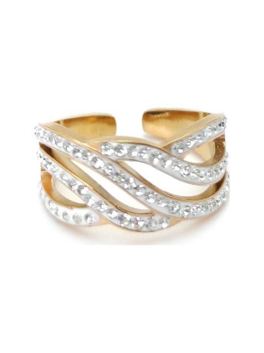 Γυναικείο Δαχτυλίδι χρυσό με πέτρες