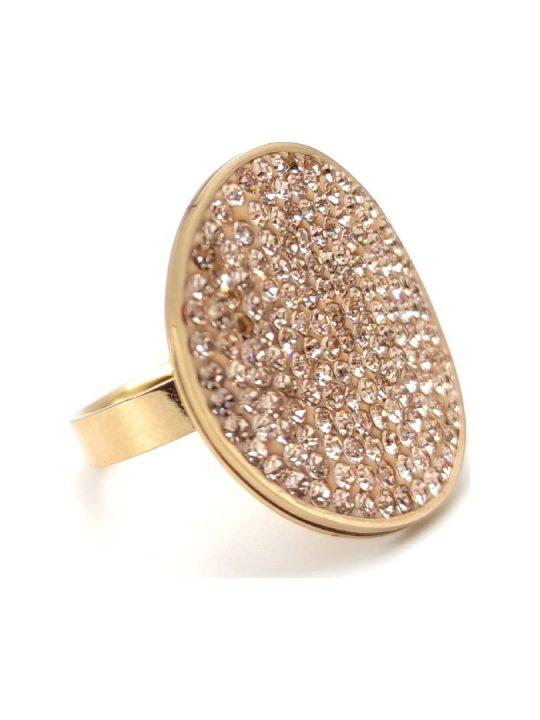 Γυναικείο Δαχτυλίδι χρυσό με χρυσές πέτρες