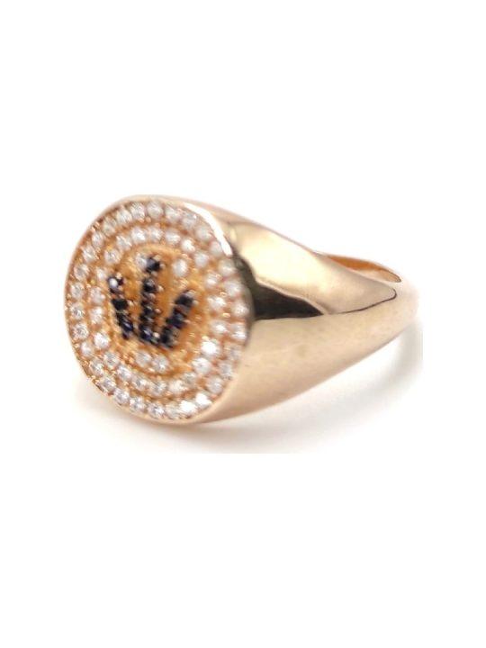 Γυναικείο Δαχτυλίδι χρυσό με πολύχρωμες πέτρες