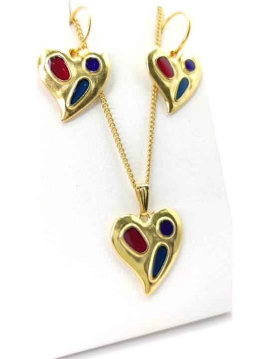 Γυναικείο Κολιέ χρυσό με καρδιά