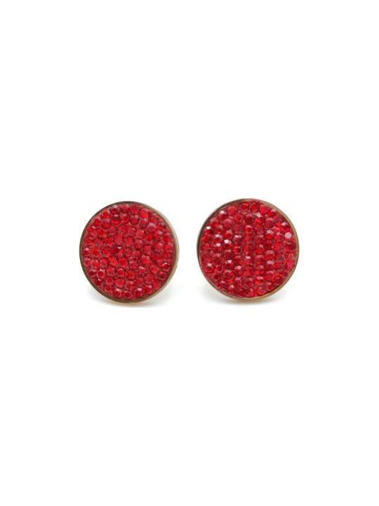 Γυναικεία Σκουλαρίκια χρυσά με κόκκινες πέτρες