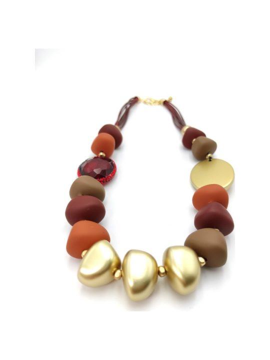 Γυναικείο Κολιέ με πολύχρωμες πέτρες