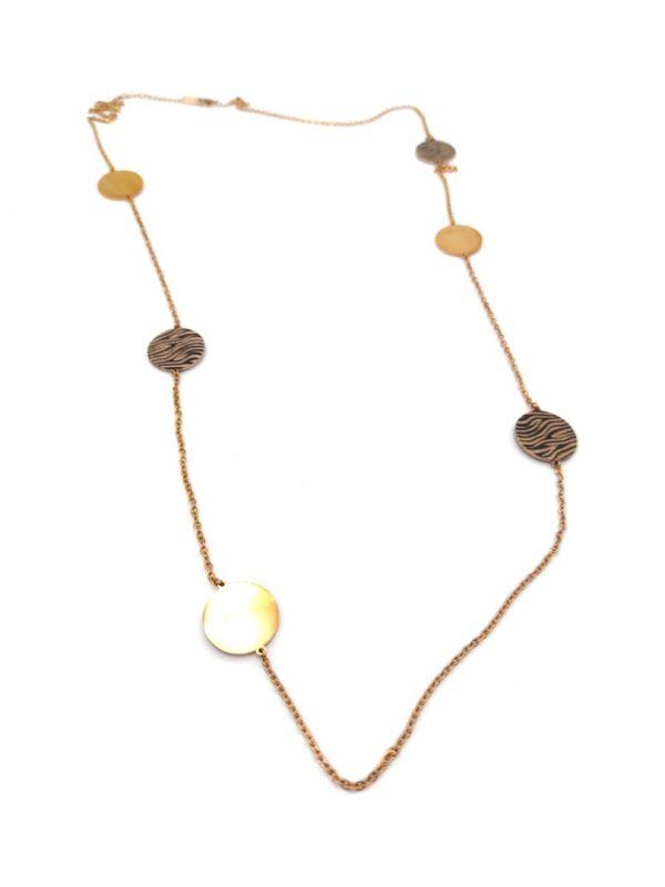 Γυναικείο Κολιέ χρυσό με κύκλους