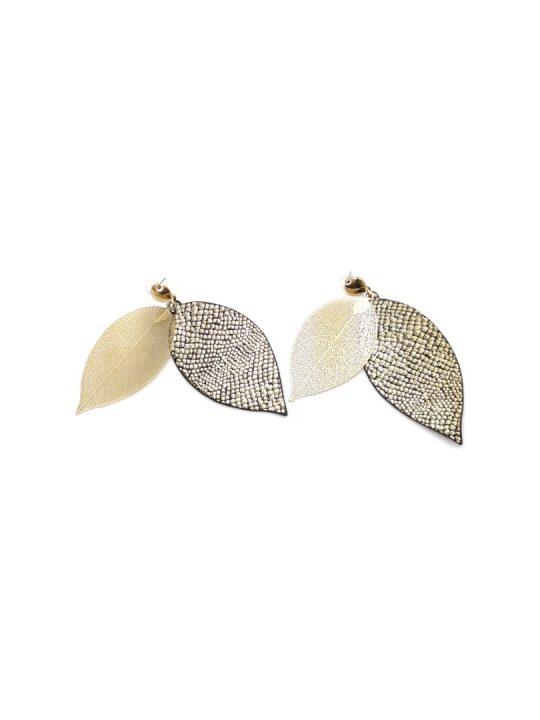 Γυναικεία Σκουλαρίκια κρεμαστά με σχήμα φύλλου