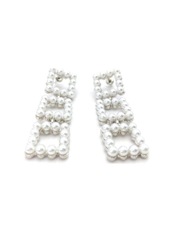 Γυναικεία Σκουλαρίκια κρεμαστά με πέρλες