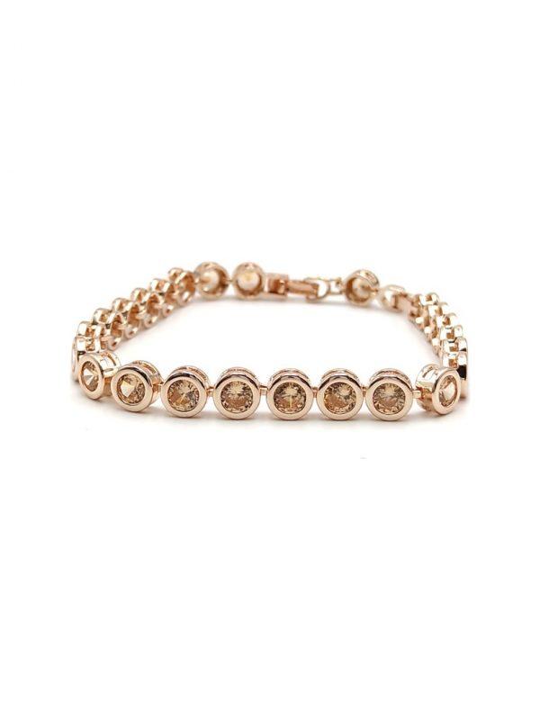 Γυναικείο Βραχιόλι χρυσό με χρυσές πέτρες