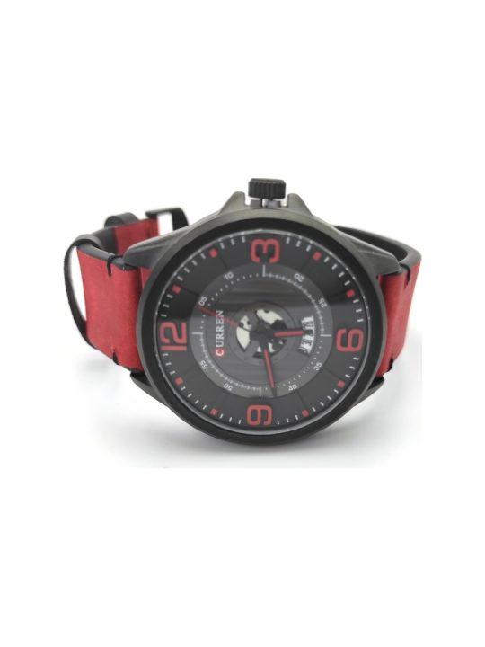 Unisex ρολόι Curren με κόκκινο λουράκι