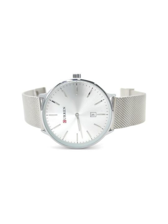 Unisex ρολόι Curren με ασημί mesh μπρασελέ