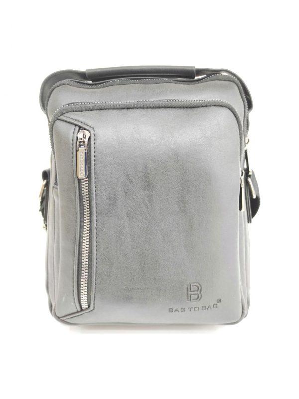 Ανδρική Τσάντα Bag to Bag γκρι χιαστή