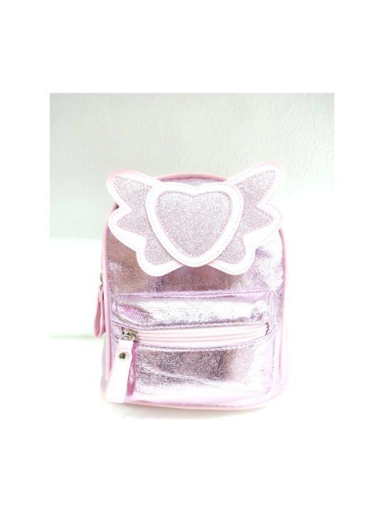 Τσάντα πλάτης ροζ με καρδιά